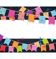 colorful birthday background with bunting flags vector image