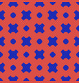 colorful geometric seamless pattern with circles vector image vector image