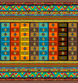 colorful oriental pattern with ethnic motifs vector image vector image