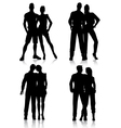 couple silhouettes vector image vector image