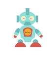 Cute Robot with red shoes vector image