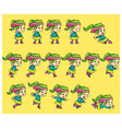 dance girl game sprites vector image vector image