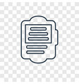 ereader concept linear icon isolated on vector image