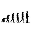 evolution sport silhouette vector image vector image