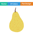 Flat design icon of Pear vector image