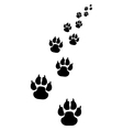footprints of dogs 3 vector image