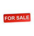 for sale flat icon vector image vector image