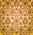 Gold Seamless abstract floral pattern vector image vector image