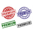grunge textured premium seal stamps vector image