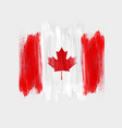 happy canada day background with watercolor vector image vector image