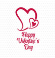 happy valentines day with pattern background vector image
