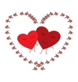 Heart two card vector image