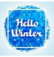 Hello winter abstract background design with vector image vector image