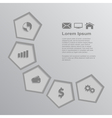 infographic template 3 vector image vector image