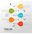 Infographic template witn timeline report points vector image vector image