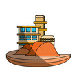 isolated sand factory building vector image vector image