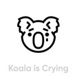 koala is crying icon editable line vector image