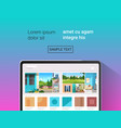 laptop with beautiful wallpapers on screen vector image vector image