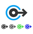 log out flat icon vector image vector image