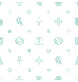 map icons pattern seamless white background vector image vector image
