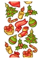 merry christmas seamless pattern with holiday vector image vector image
