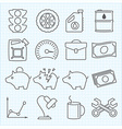 miscellaneous icons set vector image vector image