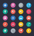 navigation simple color icons vector image vector image