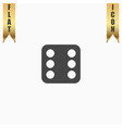 One dices - side with 6 vector image vector image
