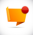 Origami orange wallpaper vector image vector image