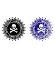 pirate danger trends stamp with scratched effect vector image