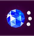 realistic sapphire jewel gem vector image vector image