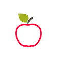 red apple2 vector image vector image