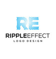 ripple effect logo design inspiration vector image vector image