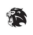 roaring lion head logo mascot vector image vector image