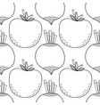 seamless black and white pattern with tomatoes and vector image vector image