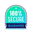 secure guarantee satisfaction label commercial vector image vector image