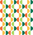 semicircle seamless pattern vector image