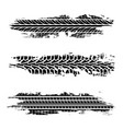 set grunge tire tracks vector image