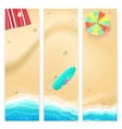 Set of travel banners vector image vector image