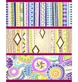 Set of unique seamless pattern and borders ethnic vector image vector image