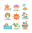 summer holidays or party and travel adventure vector image vector image