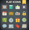 Universal Flat Icons for Applications vector image