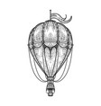 vintage air balloon sketch vector image vector image
