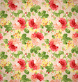 Vintage floral pattern with red roses vector image vector image