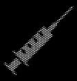 white dot syringe icon vector image