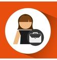 woman business portfolio file icon design vector image vector image