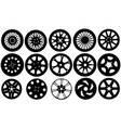 set of different rims vector image