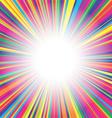 Colorful burst background vector image