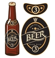 beer bottle with a label vector image