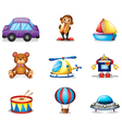 A collection of toys vector image